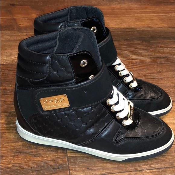 dbb3798c10f bebe Shoes - Bebe Colby Wedge Hightop Sneakers